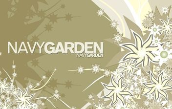 Free Vector Composition Navy Garden - Free vector #171311