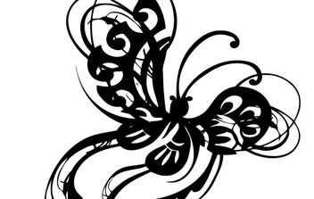 Ornamental Butterfly Abstract Stylized Wings - Free vector #171371