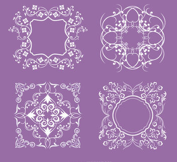 4 Floral swirls ornaments - Free vector #171451