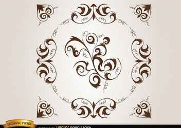 Loops and swirls circle decoration - vector #171681 gratis