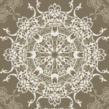 Retro Elliptical Seamless Pattern - Free vector #171721