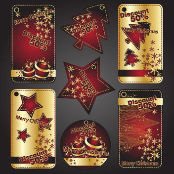 Stunning Discount Offer Xmas Banner Set - Free vector #171791
