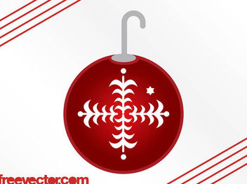 Red Ornamental Christmas Ball - vector gratuit #171841