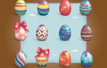 Colorful Easter Egg Pack - vector gratuit #171881