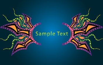 Psychedelic Banner Layout Template - Free vector #171951