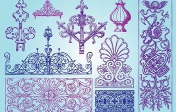 Ornamental Antique Shape Pack - Free vector #172021