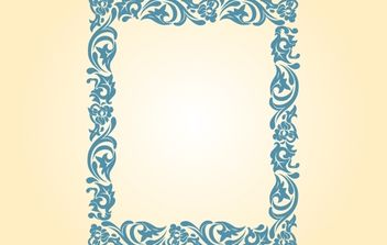 Vintage Floral Ornamental Border - Free vector #172041