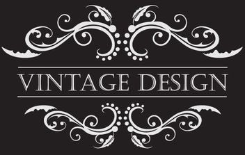 Floral Vintage Ornament with Text - Free vector #172081