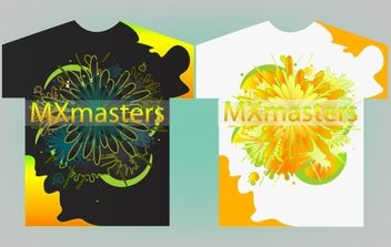 Colorful T-Shirt Design Vector - Free vector #172131