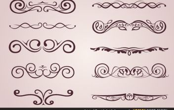 Original Flourish Swirls Ornaments - бесплатный vector #172181