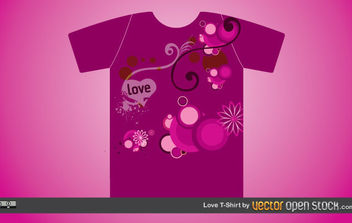 Love T-shirt - Free vector #172251