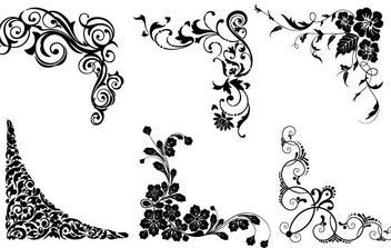 Vector floral corners - Free vector #172271