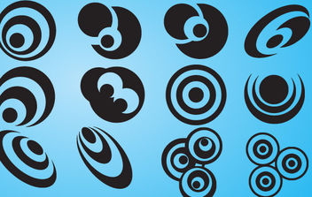 Abstract Design Circles Icon Set - Free vector #172281