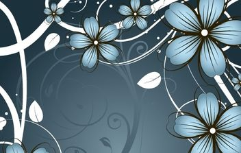 Fashion flowers frame material - vector gratuit #172431