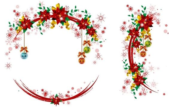 Christmas Wreaths 3 - vector gratuit #172491