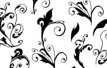 Curly hand made free vector - vector gratuit #172541