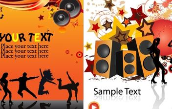 Music backgrounds - vector gratuit #172601