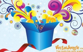FREE VECTOR GROOVY GIFT BOX - Free vector #172611