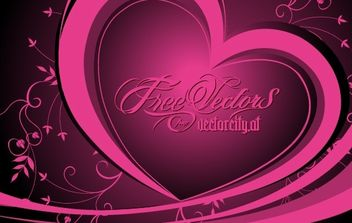 Free Vector Floral Heart - Free vector #172661