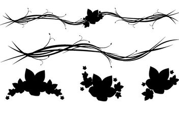Free Horizontal Floral Ornaments - Free vector #172711