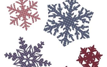Quilted Snowflakes - Free vector #172731