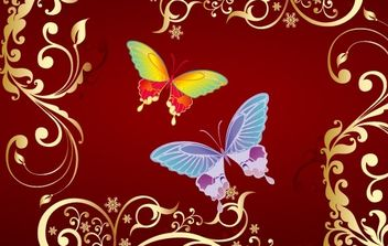 butterfly Flowers vector - бесплатный vector #172771