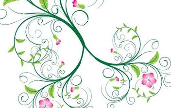 Swirl Floral Vector - Free vector #172841