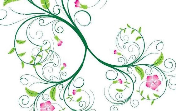 Swirl Floral Vector Free Vector Download 172841 Cannypic