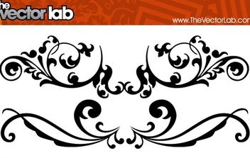 Flourishes - vector gratuit #172861