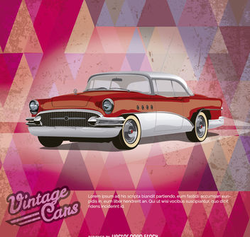 Vintage Car Poster - Free vector #172881