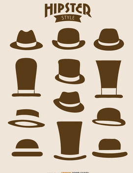 12 Hipster hats - Free vector #172891
