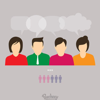 Conversation Concept Business People Characters - vector gratuit #172961