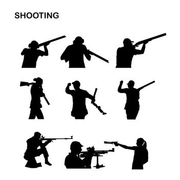 Shooter & Sniper Sport Pack Silhouette - Free vector #173031