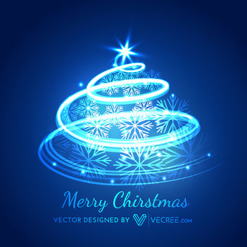 Creative Spiral Shade Formed Xmas Tree - Free vector #173041