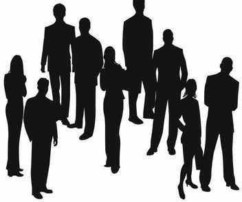 Silhouette Business People Set - Free vector #173081
