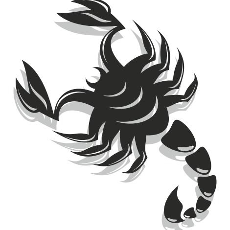 Black & White Flat Scorpion - vector gratuit #173211