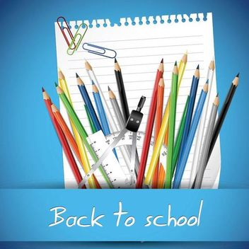 Fantastic Set of Back to School Stuffs - vector gratuit #173221