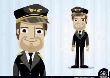 Pilot Cartoon Character - Free vector #173451