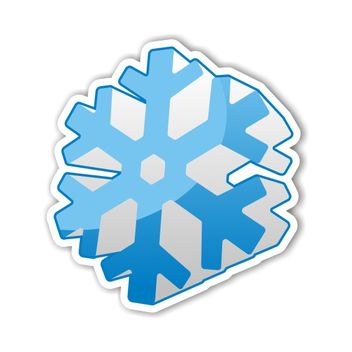 Snowflake icon - Free vector #173511