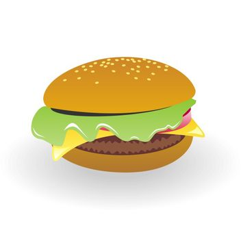 Cheeseburger vector - vector gratuit #173551