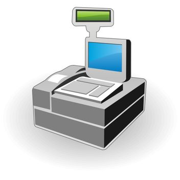 Cash register icon - бесплатный vector #173561