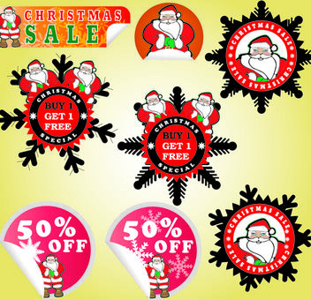 Adorable Promotional Christmas Sticker Pack - Free vector #173631