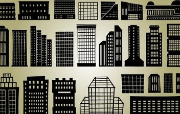 Multi Stored Silhouette Building Set - vector #173651 gratis