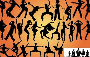 Jazz Dancers Pack Silhouette - vector gratuit #173681