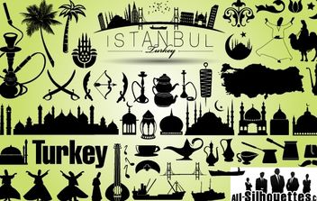 Turkey Istanbul Icon Pack Silhouette - Kostenloses vector #173711