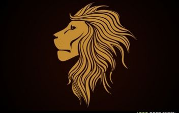 Golden Lion Logo - Free vector #173921