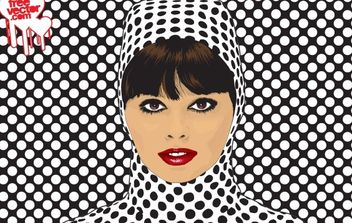 Women Face with Dot Pattern Cloth - vector gratuit #173931