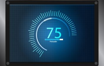 Preloader with Display - vector #174061 gratis