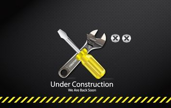 Under Construction Tools Icon - vector gratuit #174081
