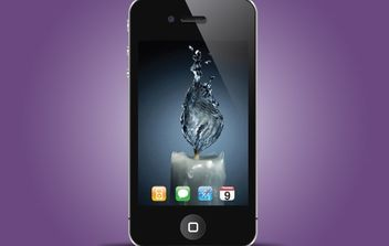 Iphone Black Realistic Style - vector gratuit #174091
